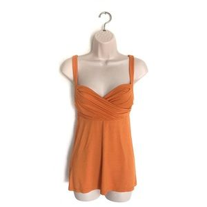 BCBGMAXAZRIA Orange Tank Top